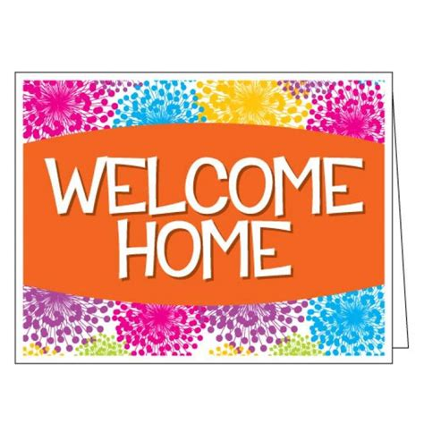 welcome home card free shipping colorful blooms mail