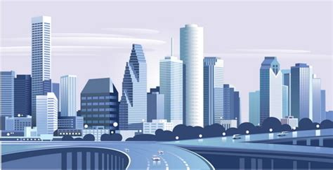 art design jobs houston drawing city buildings and scenery vector free vector in