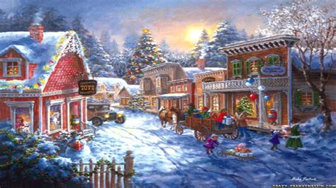 christmas scenery wallpaper www pixshark com images