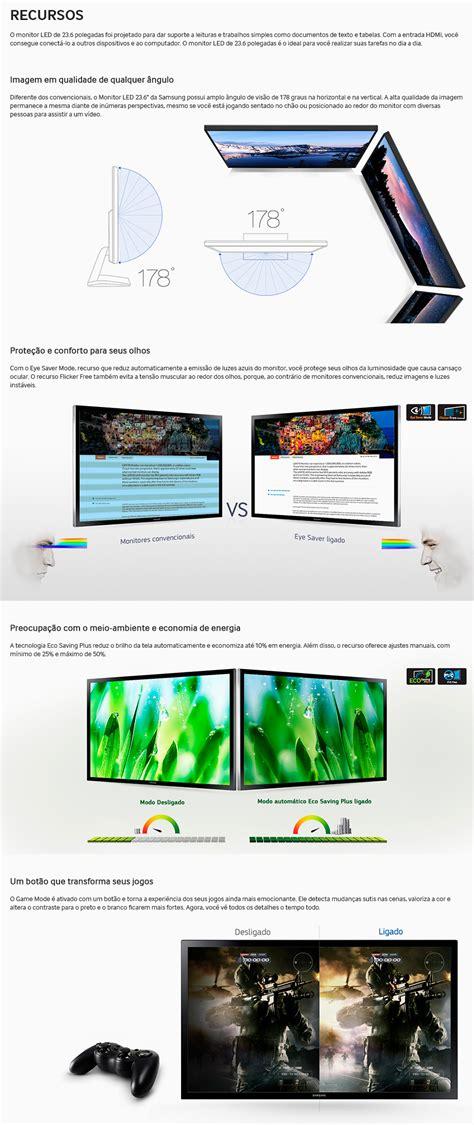 Led Samsung 24 Ls24e510csxd Hd D Sub Hdmi monitor samsung 23 6 quot led hd ls24e310 hdmi d sub vesa