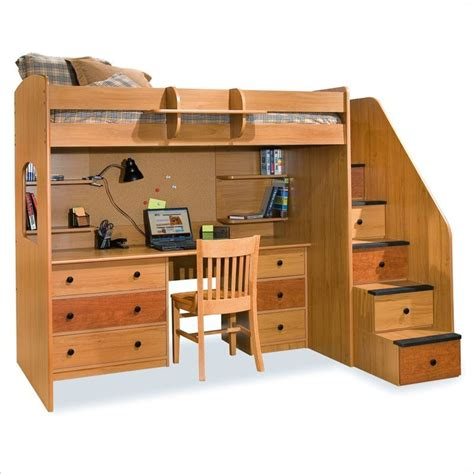 loft bed with storage and desk lowest price on all berg furniture utica lofts