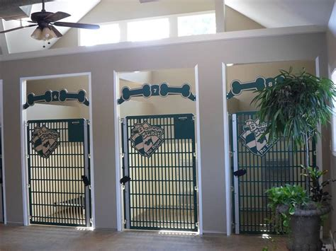 built in kennel these stylish kennel gates are installed on built in
