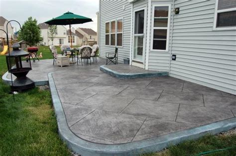 cement designs patio looking poured concrete patio design ideas patio
