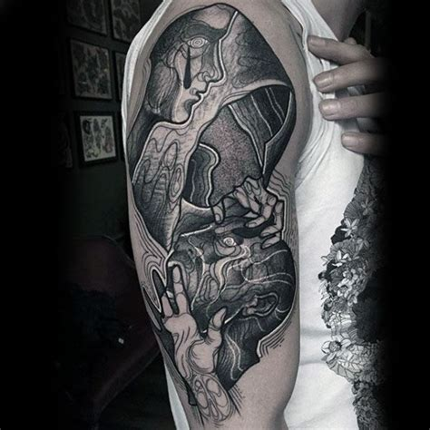 meaningful half sleeve tattoos for men 100 optical illusion tattoos for eye deceiving designs