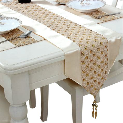 continental dining table flag sequined satin bed hotel