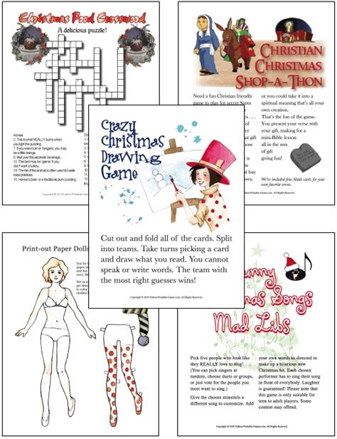 printable christmas party games pack download printable hd wallpapers