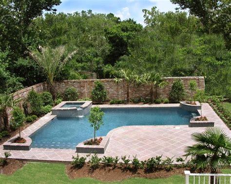 backyard designs with inground pools inground pools designed for backyard living residential