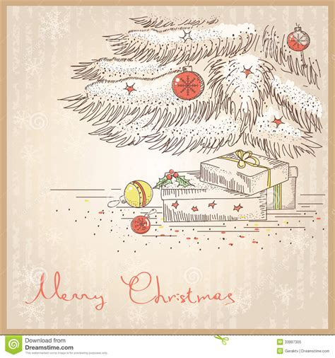 images of christmas cards to draw christmas card with gifts and presents vector draw stock