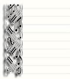Free printable music stationary stationery