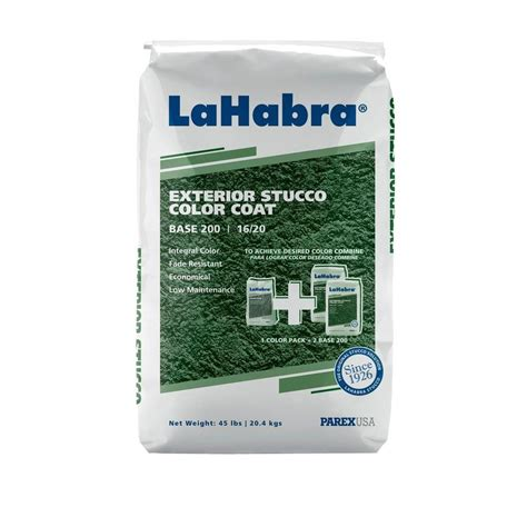 lahabra 45 lb exterior stucco color coat base 200 16 20