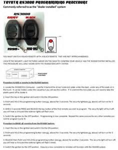 2001 Toyota Corolla Keyless Entry Remote Key Fob Keyless Entry Remote For 2001 Toyota Corolla