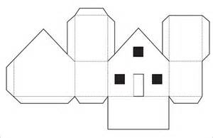 Free Papercraft Templates - papercraft template house related keywords papercraft