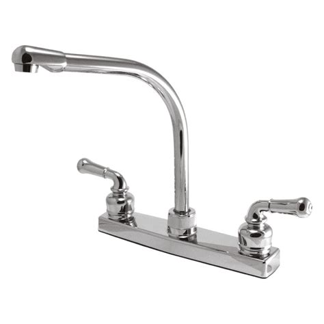 kitchen faucet chrome relaqua 174 akl 8201sh 1c chrome two lever kitchen faucet
