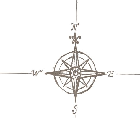 free illustration compass north south direction free