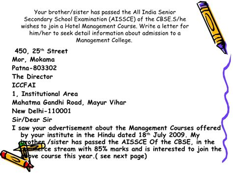 Inquiry Letter Cbse How To Write Letter