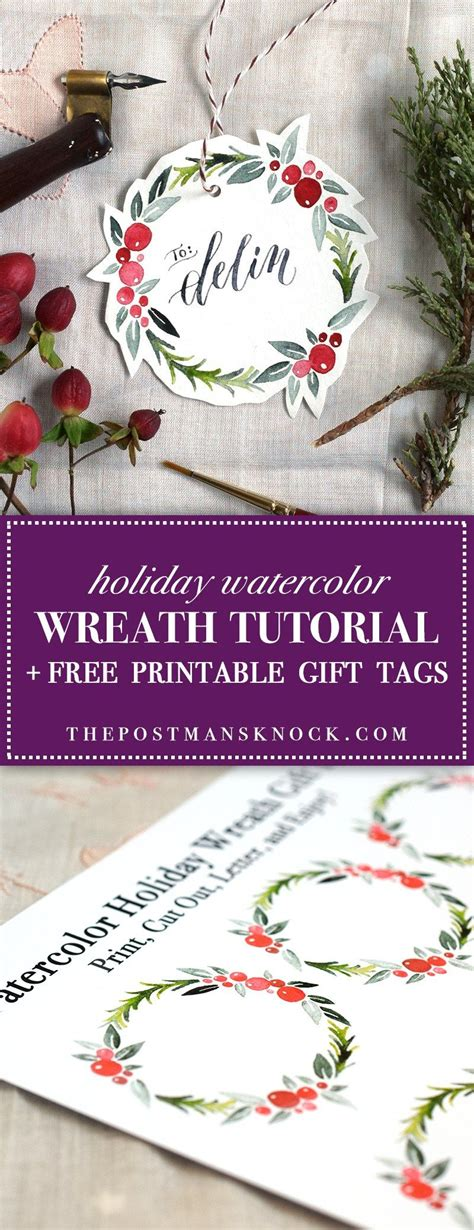 watercolour quotes tutorial watercolor holiday wreath tutorial free printable