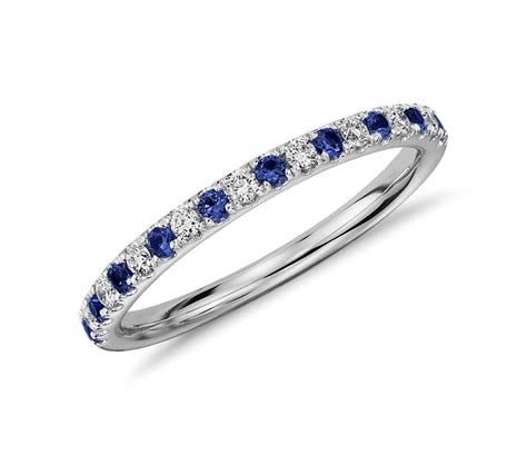 pave sapphire ring riviera pav 233 sapphire and ring in platinum 1 5mm