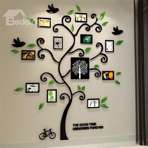 family tree pattern photo frame wall sticker beddinginn designs and ideas
