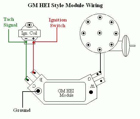 55 chevy hei distributor wiring diagram chevy hei firing