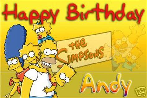 imagenes de happy birthday de los simpson tarjetas de cumplea 241 os de los simpson