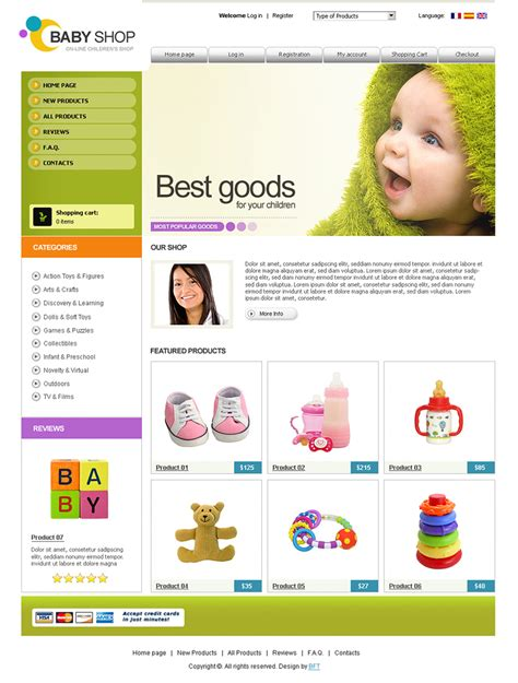 Free Baby Shop Free Children S Shop Free Toys Shop Template Shop Free