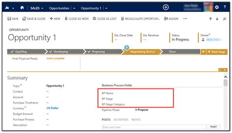 microsoft crm workflow exles display business process values on forms in dynamics crm 2013