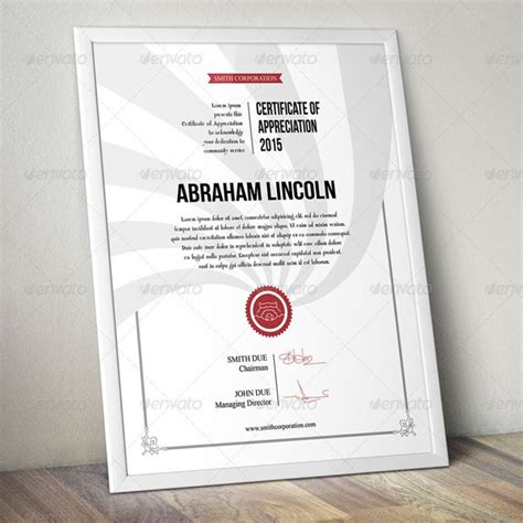 certificate design mockup 15 best certificate of appreciation template psd ai pdf
