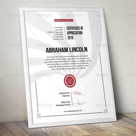 certificate templates psd 15 best certificate of appreciation template psd ai pdf