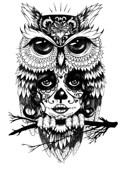 black and white owl tattoo collection of 25 black white owl design