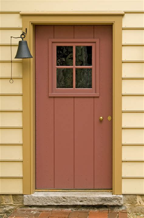 sheathed door with small sash traditional front doors