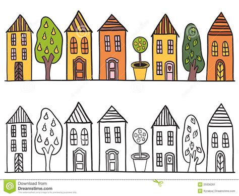 Small English Cottage Plans houses in small town pattern stock image image 25936261