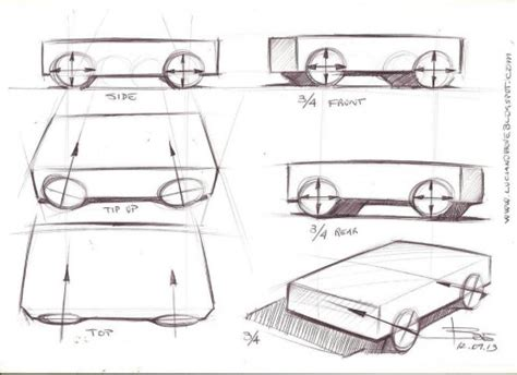 layout techniques definition drawing wheels in perspective car sketching tips www