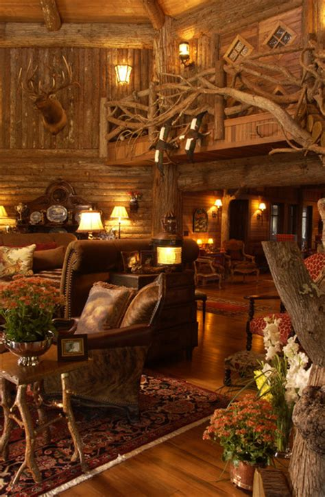 log home interior design great room rustic living room minneapolis by