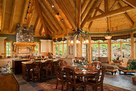 luxury log home interiors arcd 3423 town country cedar homes
