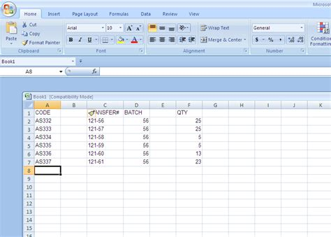 deleting blank columns to create pivot table using excel
