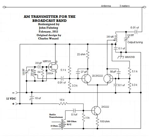 am broadcast transmitter block diagram am broadcast band transmitter schematic images
