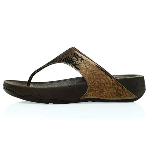 Sandal Wedges Terlaris New Fitflop Glitter fitflop fitflop electra womens glitter toepost sandals bronze fitflop from scorpio shoes uk