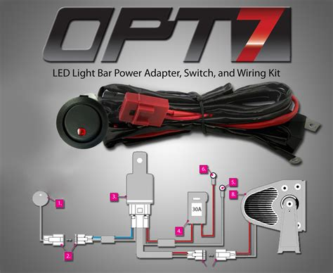 Opt7 C1 Series 20 Quot Off Road Led Light Bar W Wire Harness Opt7 Led Light Bar