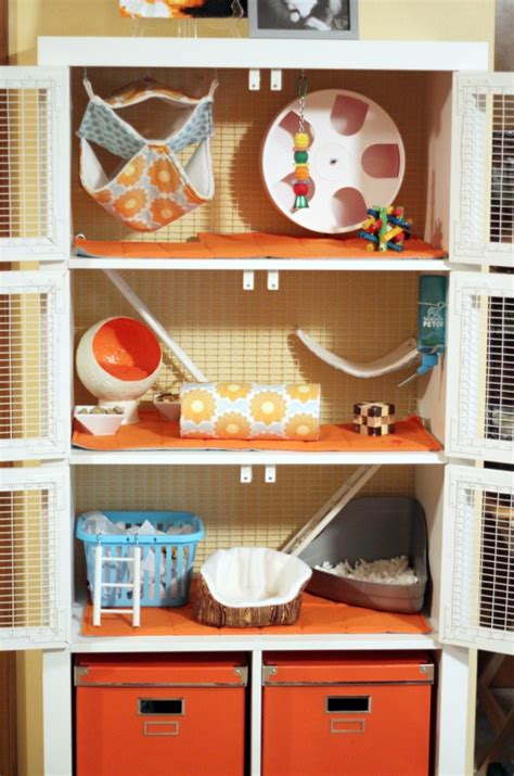 pet cage made out of ikea shelf diy home furnishings