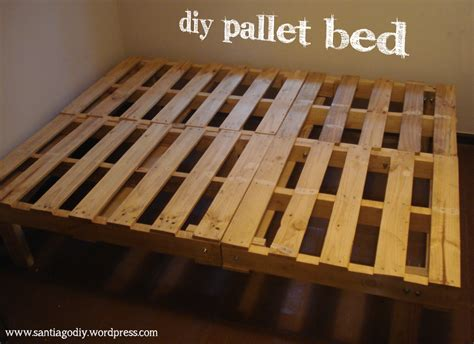 how to make a bed frame out of pallets our diy pallet bed santiagodiy
