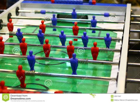 Foosball Tabletop Soccer by Table Football Indoor Game Royalty Free Stock Photography