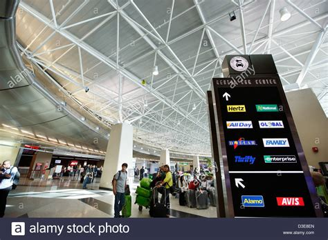 Family Auto Rental Miami Airport by Rental Car Center Miami International Airport Stock Photo