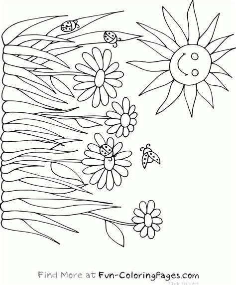 coloring pages flowers spring spring flower coloring pages coloring home