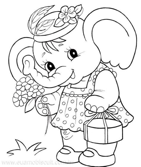 girl elephant coloring pages elephant coloring page baby quilt 卡通 pinterest