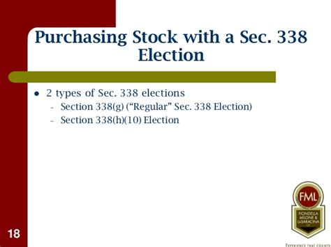 section 338 election buying selling a business tax considerations