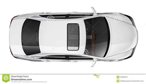 top car white car top view stock illustration illustration of