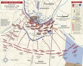 franklin map battle of franklin tennessee civil war franklin battle map