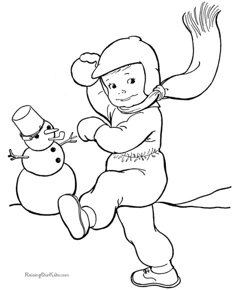 free winter coloring pages for printable new