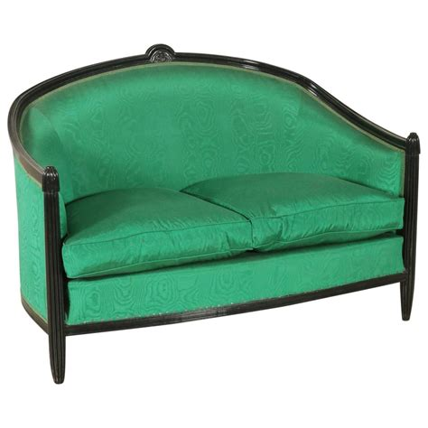 1920s sofa styles sofa ruhlmann style lacquered wood springs fabric italy