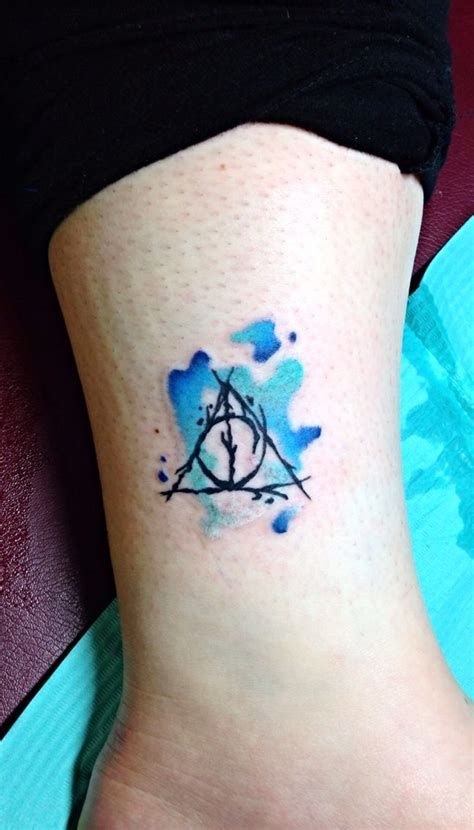 deathly hollows tattoo 74 best images about watercolor tattoos by robert winter